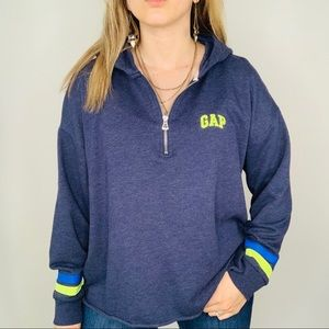 GAP Blue Soft Hoodie Casual Crop Sweatshirt XL